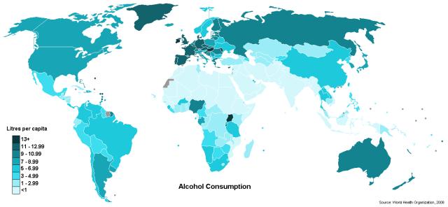 Alkohola patēriņš 2004.gadā