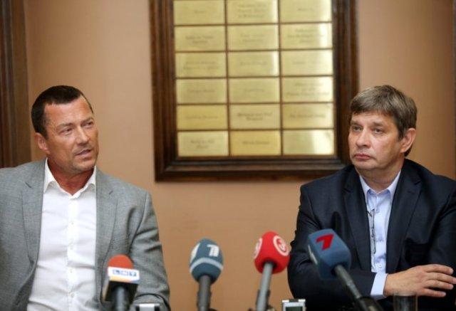 Andrejs Žagars un Artūrs Maskats (LNO mākslinieciskais vadītājs)