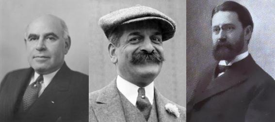 Herberts Henrijs Lehmans , Fēlikss Moriss Varburgs, Edvīns Seligmans