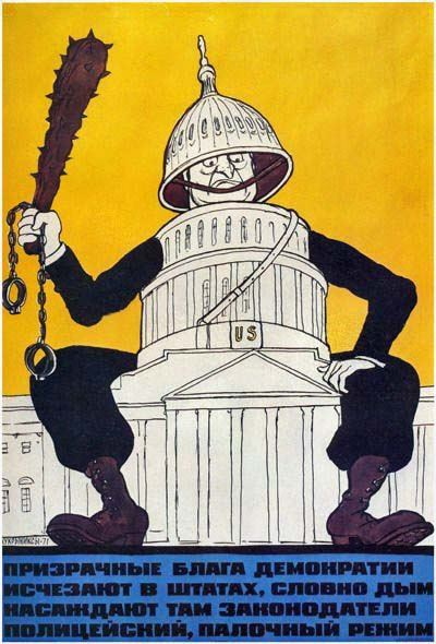 """Demokrātijas iluzorie labumi kā dūmi Štatos sāk izzust; likumdevēji tur ievieš policejisku, """"rungu"""" režīmu."""
