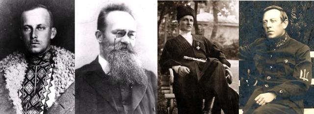 Vilhelms Francis Habsburgs, Mihails Gruševskis, Pāvels Skoropadskis, Simons Petļura