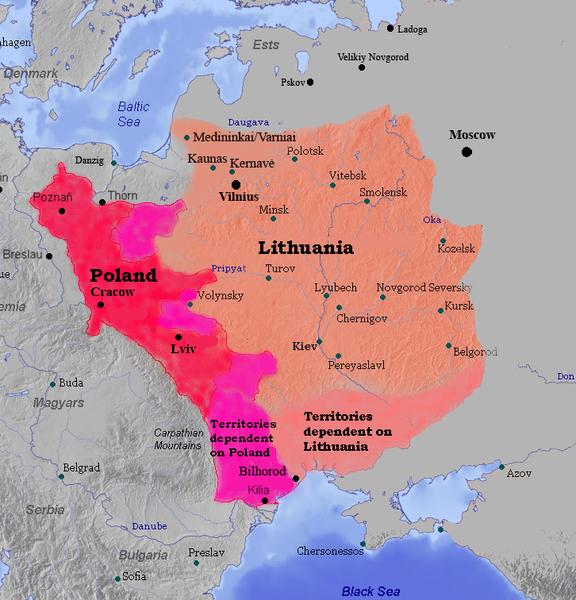 Lietuva un Polija 1387.gadā