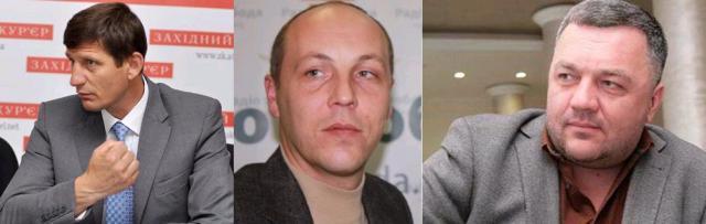 Aleksandrs Sičs, Andrejs Parubijs, Oļegs Mahņickis