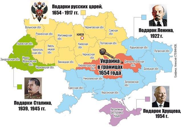 Ukrainas izveidošanās karte