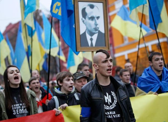 ukraiņu nacistu gājiens