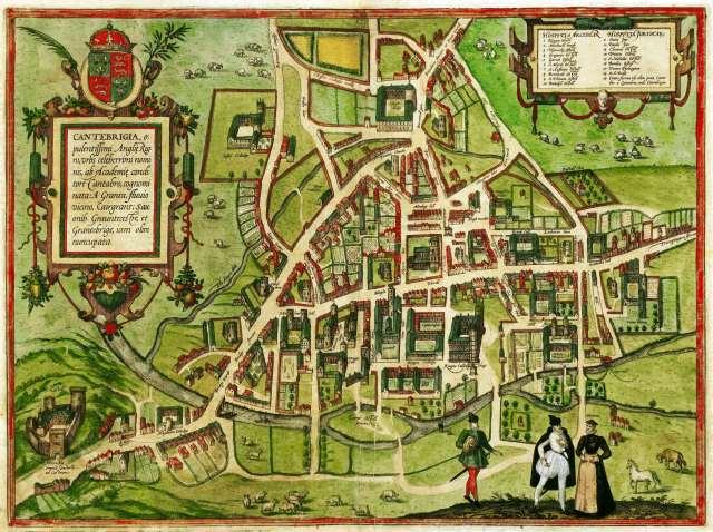 Kembridžas universitātes karte 1575.gadā