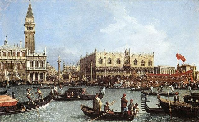 Canaletto_Return_of_the_Bucentoro_to_the_Molo_on_Ascension_Day,_1732__Royal_Collection__Windsor_