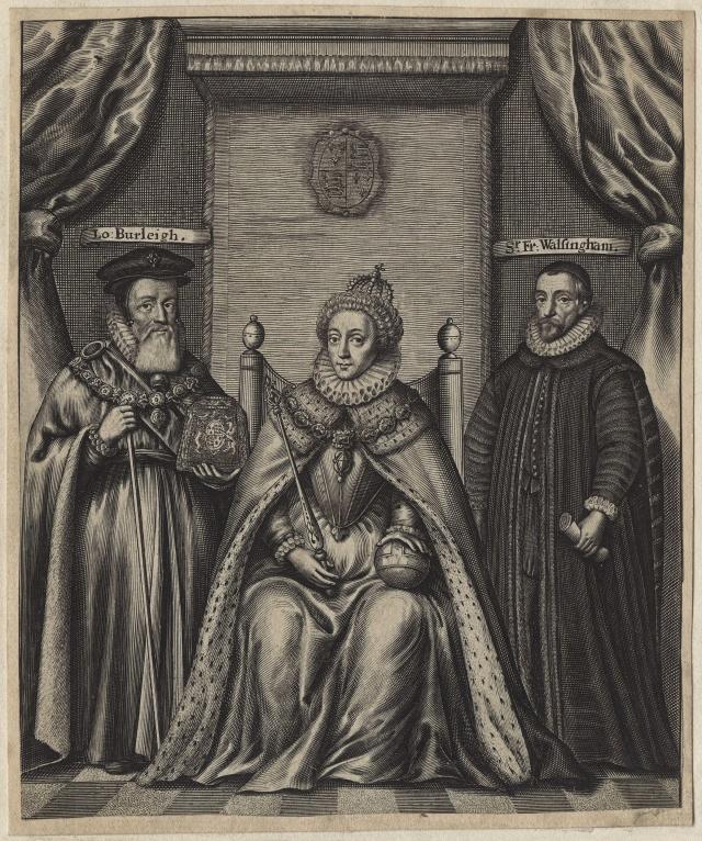 Sers Viljams Sesils (Berlejas grāfs), Elizabete I Tjūdore-Boleina, Sers Frensis Volsingems