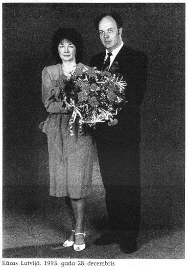 Rita Broka un Ārne Smoge 1993.gada decembrī