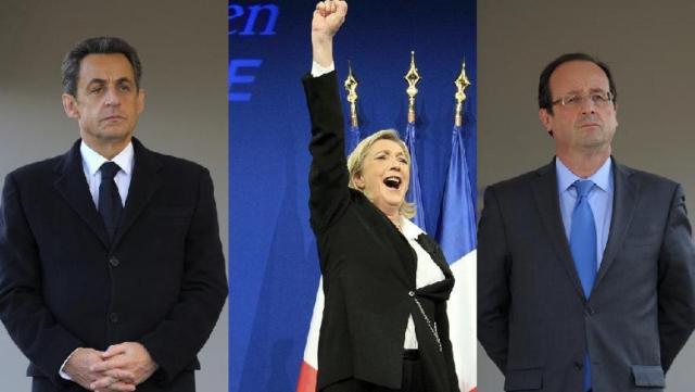 Nikolā Sarkozi, Marina Le Pena, Fransuā Olands