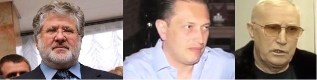 Igors Kolamoiskis ar iesauku Dņepropetrovskas Beņa, Aleksandrs Narigašvili ar iesauku Nariks, kriminālā autoritāte ar iesauku Umka