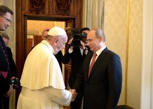 pāvests Francisks un Vladimirs Putins