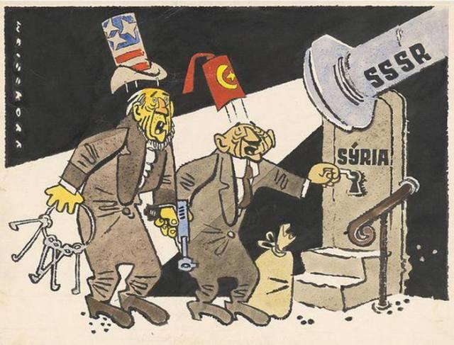 Vairāk kā 50 gadus veca karikatūra.