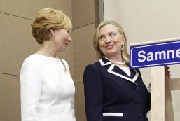 Irma Kalniņa un Hilarija Klintone