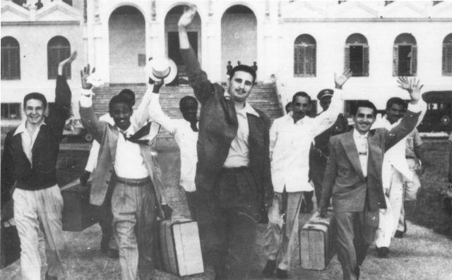 Fidels Kastro uzreiz no iznākšanas no cietuma 1955.gadā