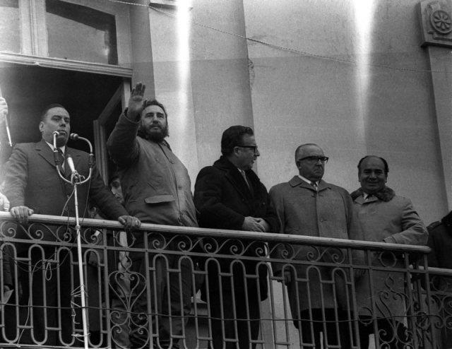 Fidels Kastro un Salvadors Aljende 1971.gada novembris, Čīle