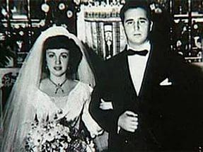 Fidels Kastro un Mirta Mirta Dieas Balart kāzu dienā