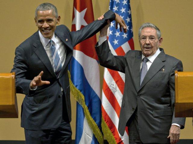 Kubas vadītājs Rauls Kastro un ASV prezidents Baraks Obama 2016.gada martā