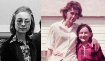 Hilarija Rodhama 1974.gadā un Ketija Šeltone 12 gadu vecumā ar mammu